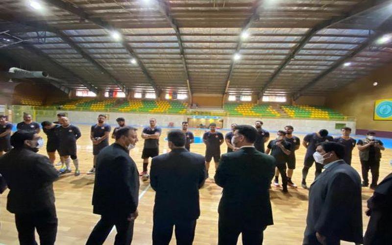 حضور رییس فدراسیون هندبال در تمرینات مس