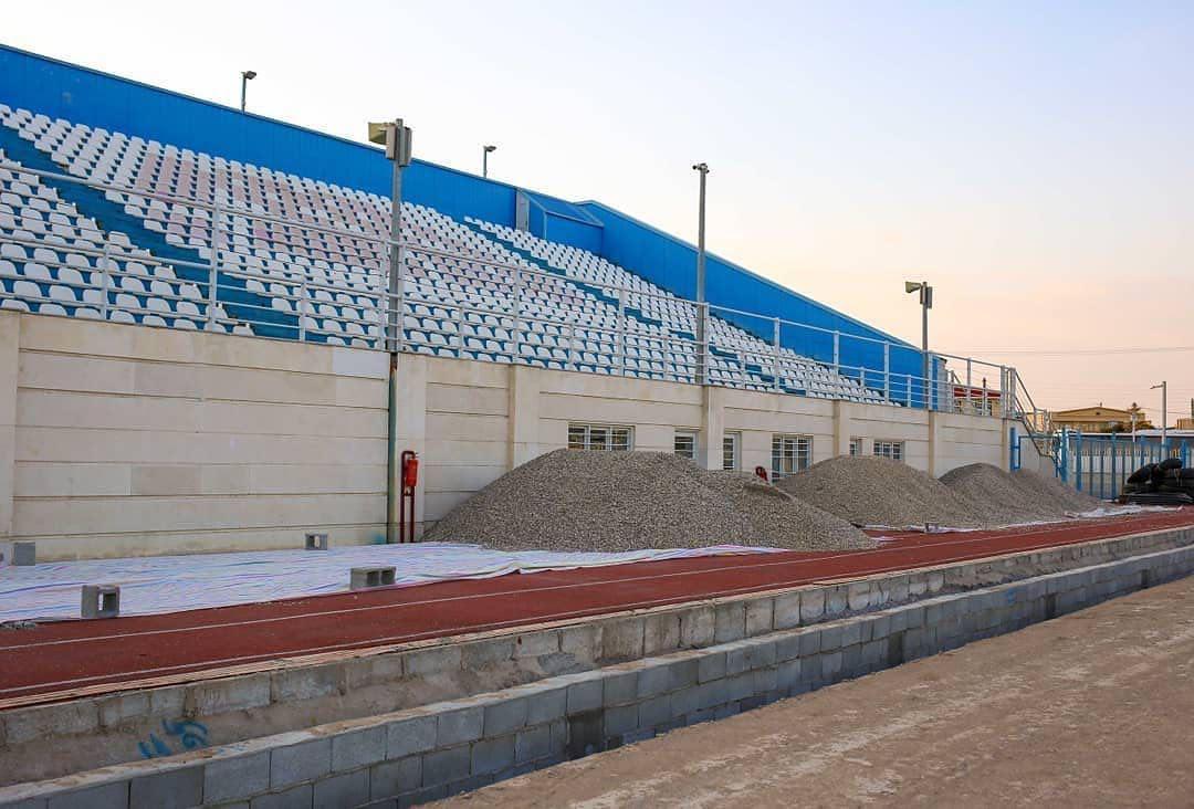 ورزشگاه اختصاصی گل گهر آماده کشت چمن (عکس)