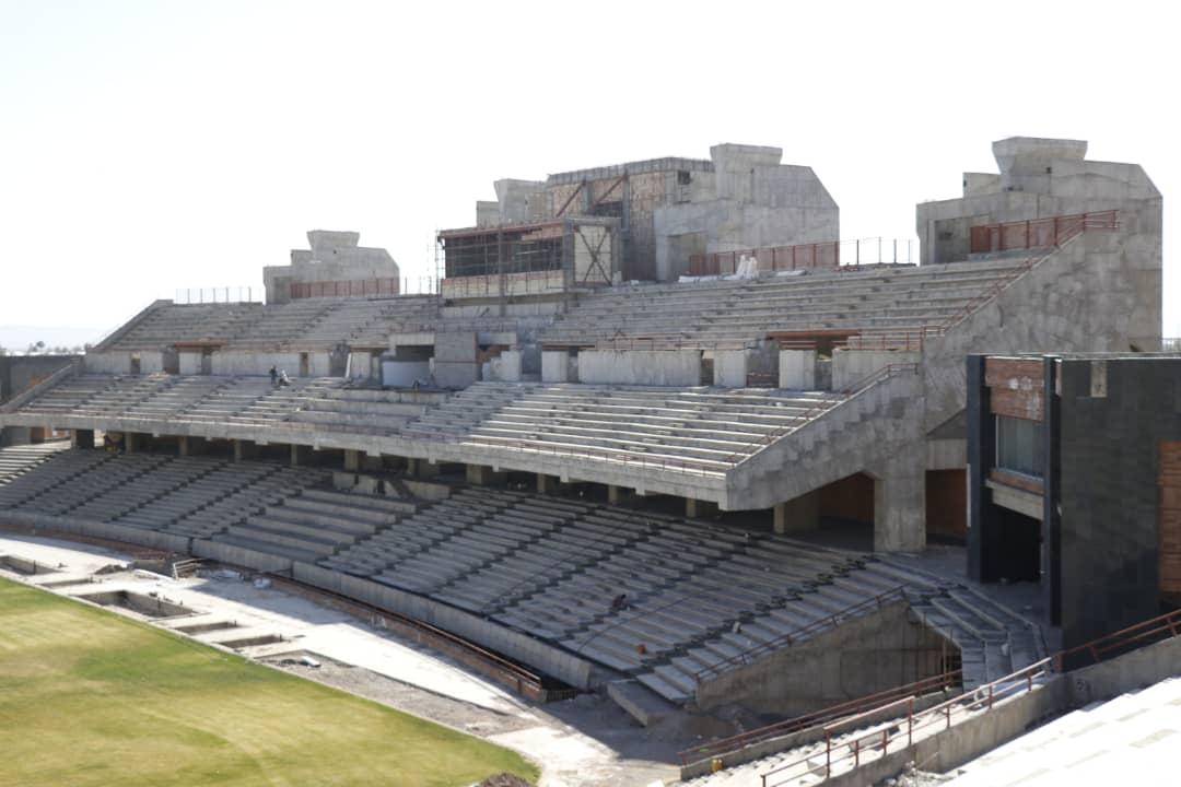 گزارش تصویری: روند ساخت ورزشگاه شهدای مس کرمان