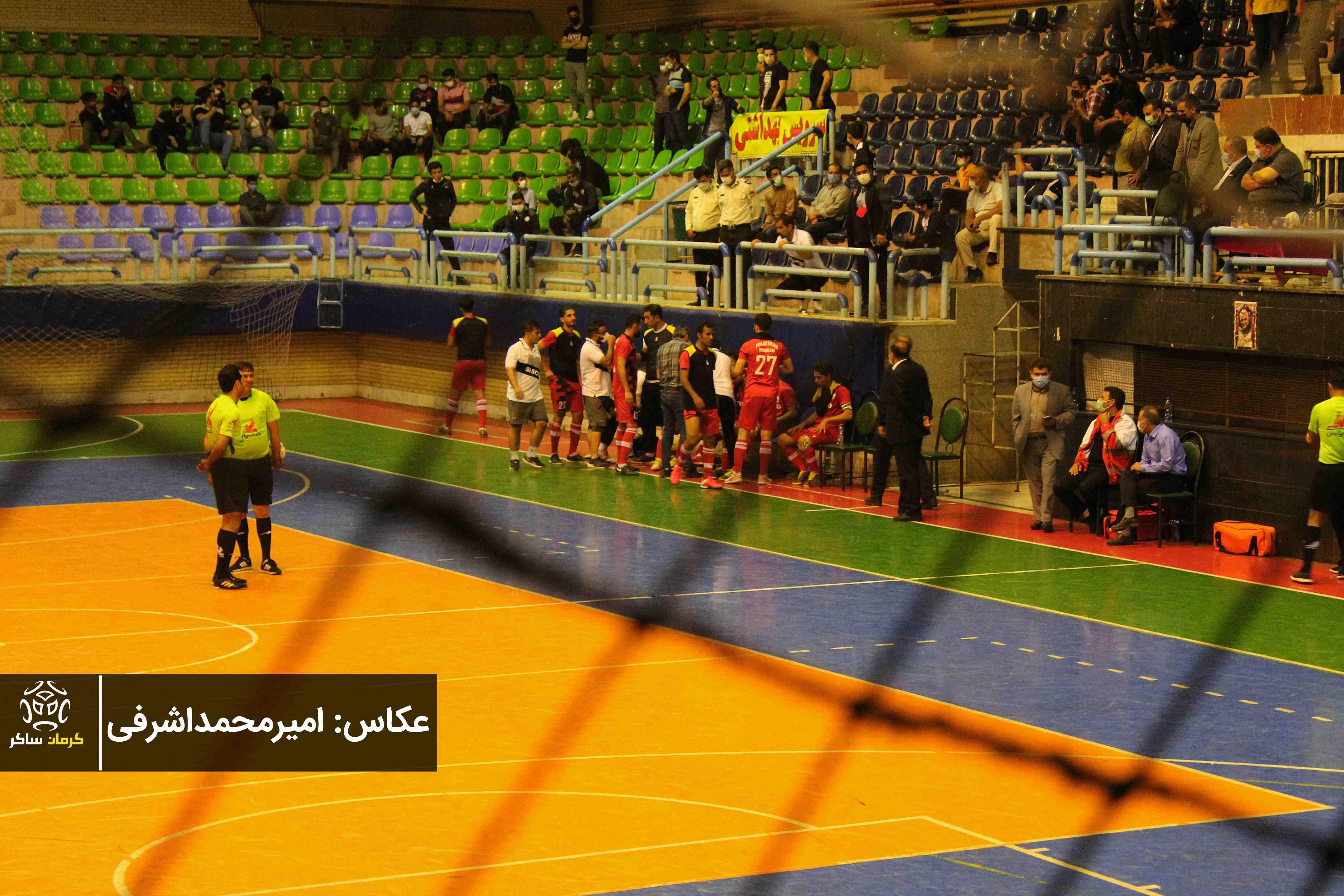 گزارش تصویری: هفته دوازدهم لیگ دسته اول فوتسال کشور/ فولادسیرجان ایرانیان - زندی بتن کلاردشت از نگاه دوربین امیرمحمداشرفی