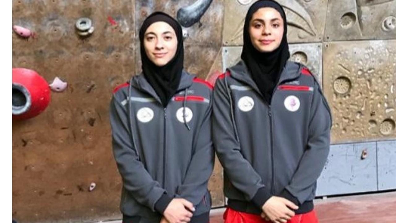 دو دختر کرمانی در مسابقات جهانی سنگ نوردی