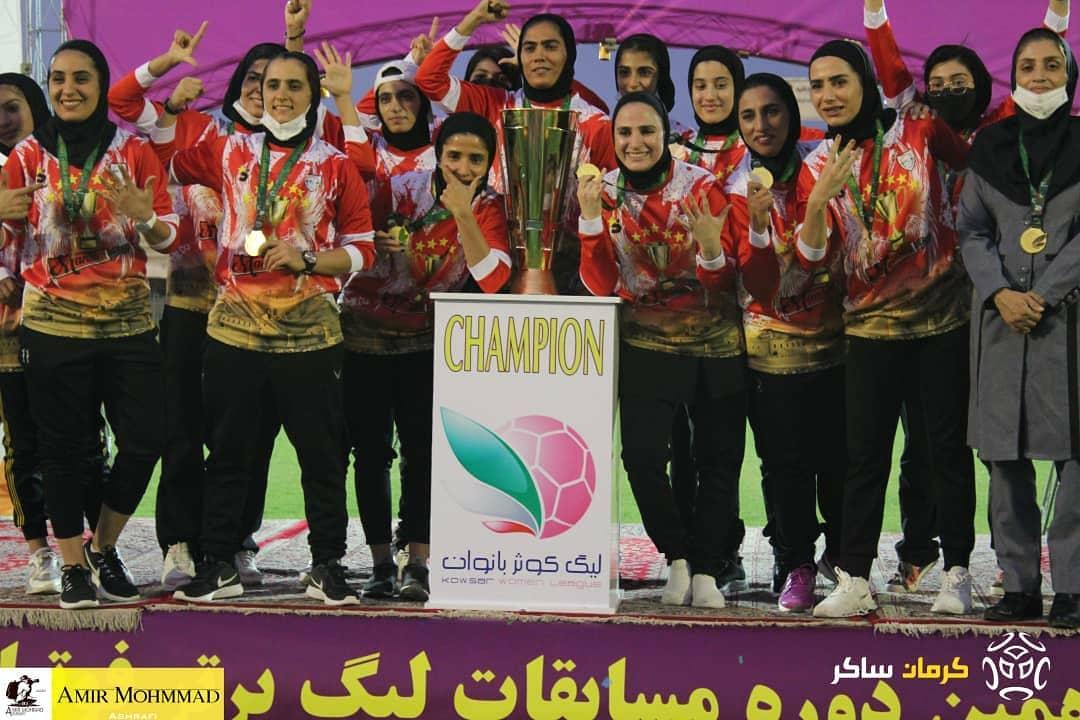 گزارش تصویری جشن قهرمانی تیم فوتبال بانوان شهرداری بم/امیرمحمد اشرفی